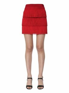 Alberta Ferretti Short Skirt With Fringes