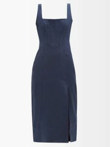 Golden Goose - Extra Long Double Breasted Blazer - Womens - Beige