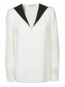 Givenchy Contrast V-neck Blouse
