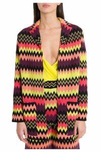 M Missoni Multicoloured Zigzag Motif Cardigan