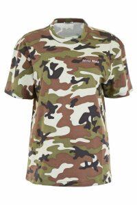 Miu Miu Camouflage T-shirt