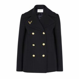 Valentino Navy Wool Peacoat