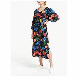 Finery Miria Floral Side Slit Maxi Dress, Multi