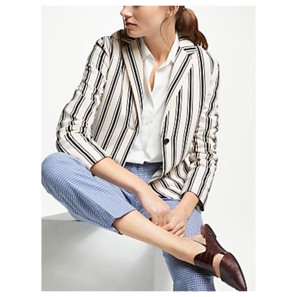 Weekend MaxMara Stripe Jersey Blazer, Ultramarine/Multi