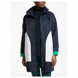 PATTERNITY + John Lewis Colour Block Parka, Navy/White