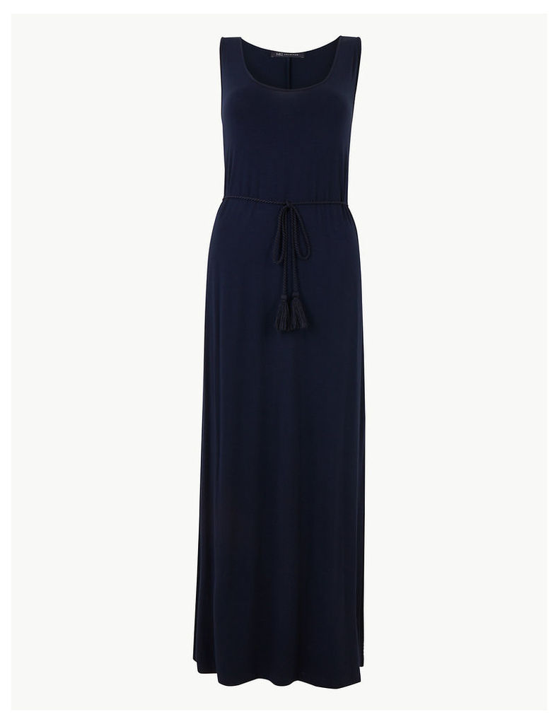 M&S Collection Tie Waist Waisted Maxi Dress