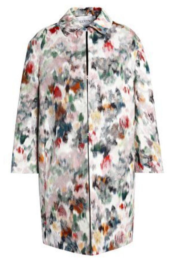 Valentino Woman Cotton-blend Jacquard Jacket Multicolor Size 40