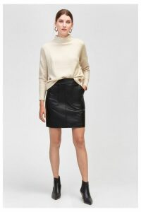 Womens Warehouse Black Pocket Detail PU Skirt -  Black
