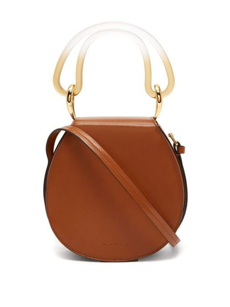 Marni - Melville Saddle Leather Shoulder Bag - Womens - Tan