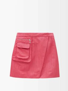 Mara Hoffman - Luna V Neck Organic Cotton Gauze Midi Dress - Womens - Red