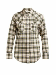 Isabel Marant Étoile - Divana Western Check Cotton Shirt - Womens - Yellow Multi