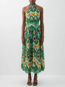 Blazé Milano - Pequod Double Breasted Check Linen Coat - Womens - Black White