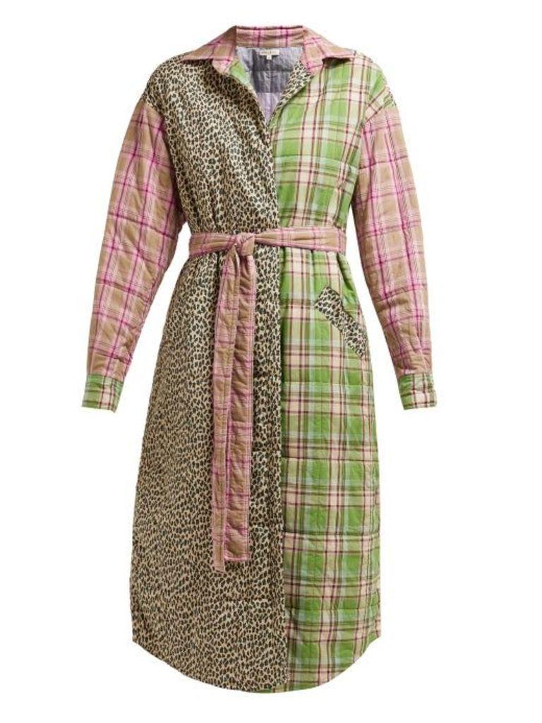 Natasha Zinko - Padded Cotton Patchwork Coat - Womens - Multi