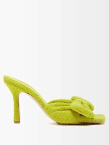 Miu Miu - Logo Embroidered Wool Sweater - Womens - Navy