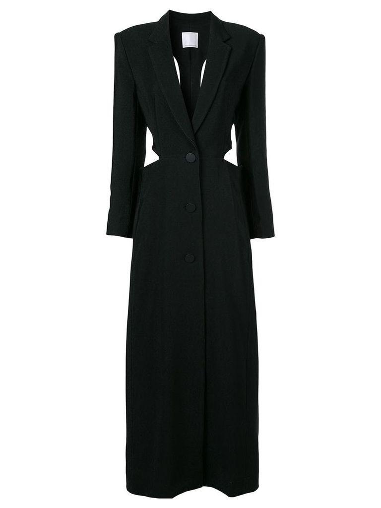 Christopher Esber long coat - Black