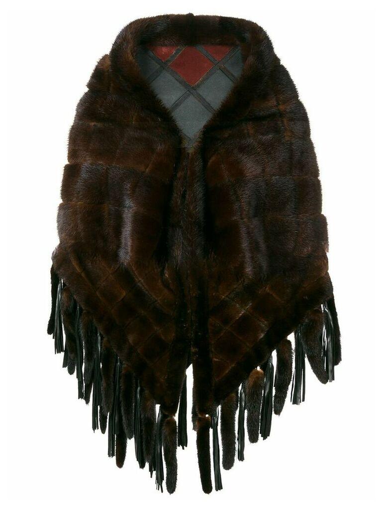 A.N.G.E.L.O. Vintage Cult 1970's reversible cape coat - Brown
