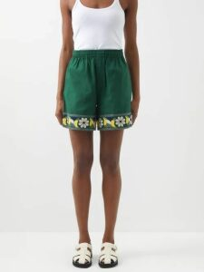 Blazé Milano - Funky Fred Chevron Silk Blend Lamé Midi Dress - Womens - Multi