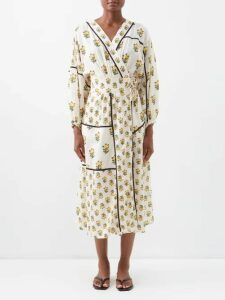 Isabel Marant Étoile - Yucca Striped Shirtdress - Womens - Black Multi