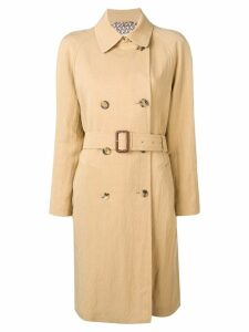 Etro double-breasted midi coat - Neutrals