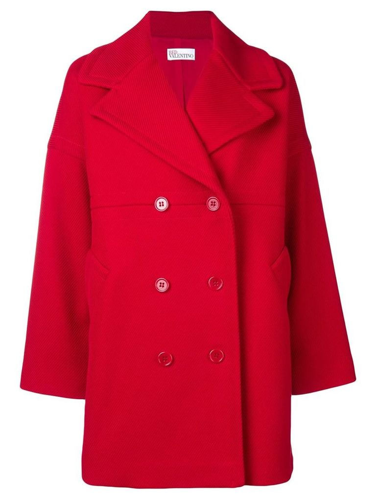 Red Valentino double breasted midi coat