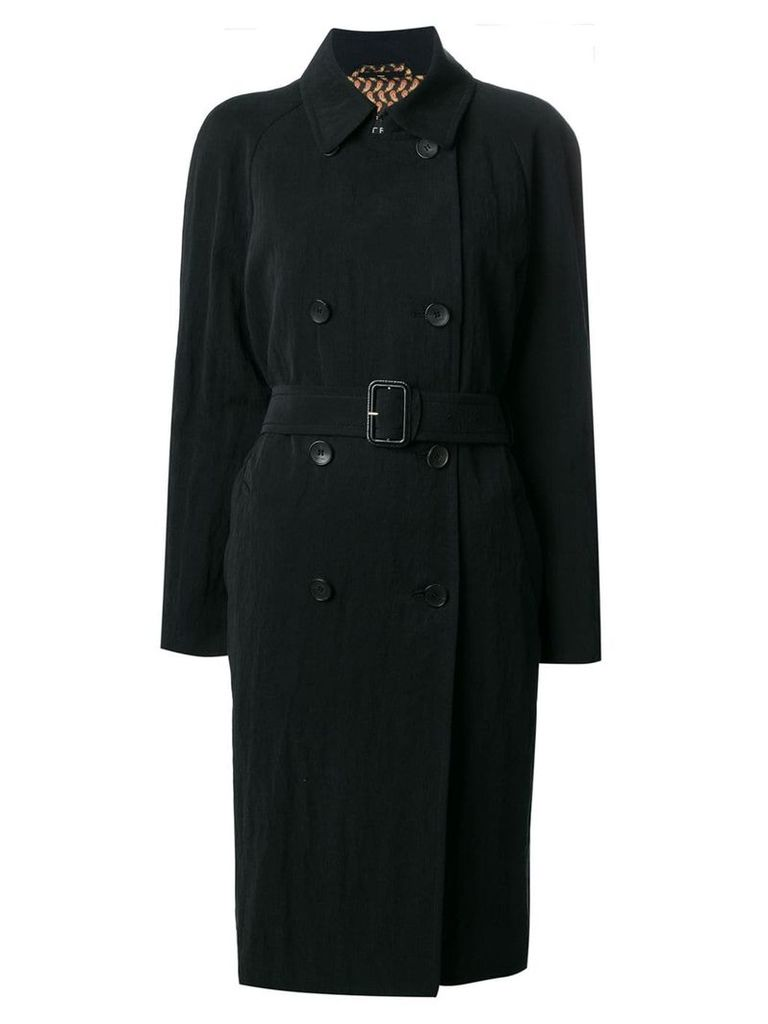 Etro double-breasted midi coat - Black