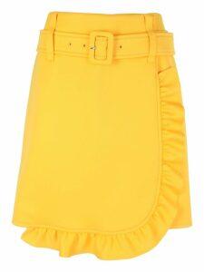 Prada Ruffle Trimmed Asymmetric Skirt