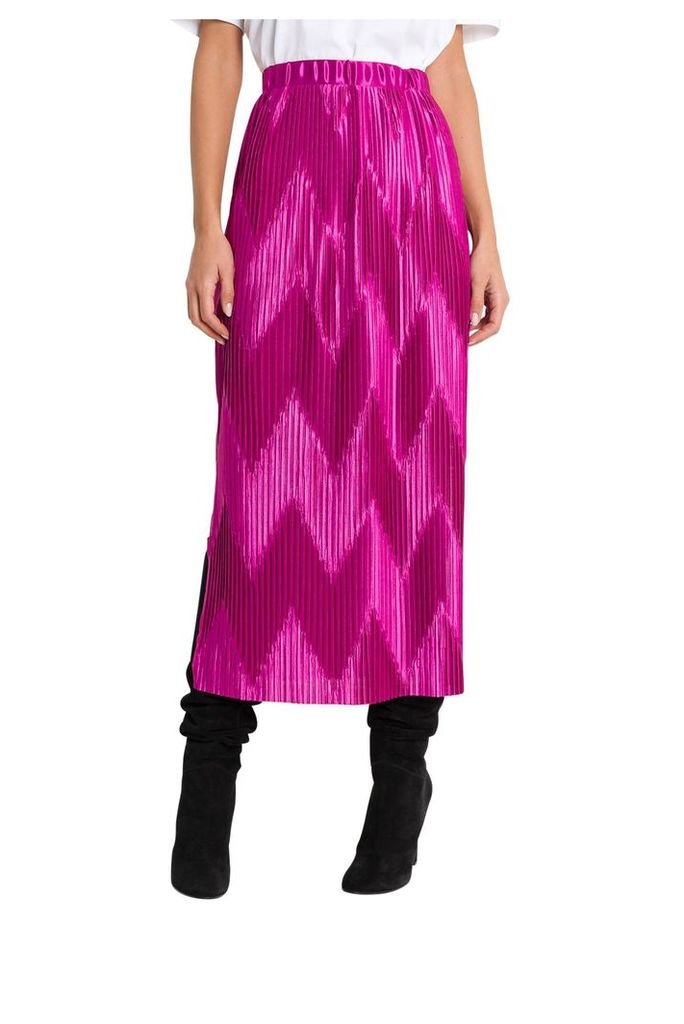 Givenchy Zig Zag Pleated Midi Skirt