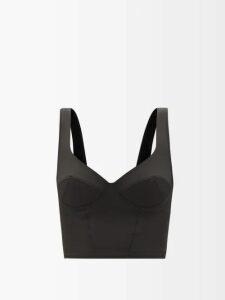 Moncler - Maglia Girocollo Zip Fastening Cotton Sweatshirt - Womens - Navy