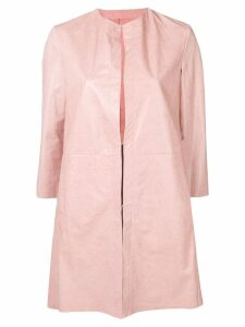 Drome leather overcoat - Pink