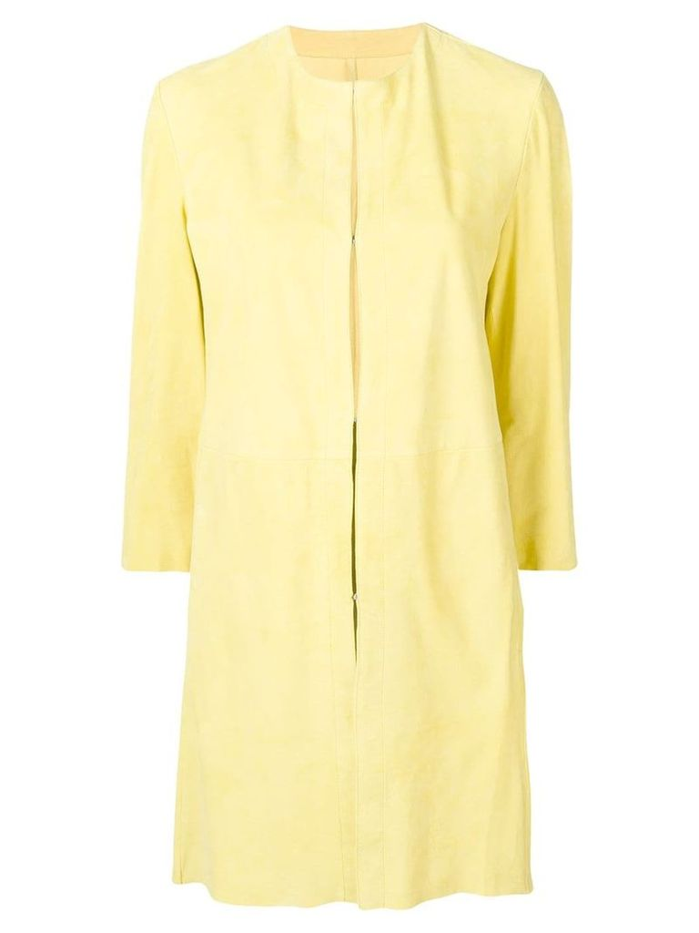 Drome leather overcoat - Yellow