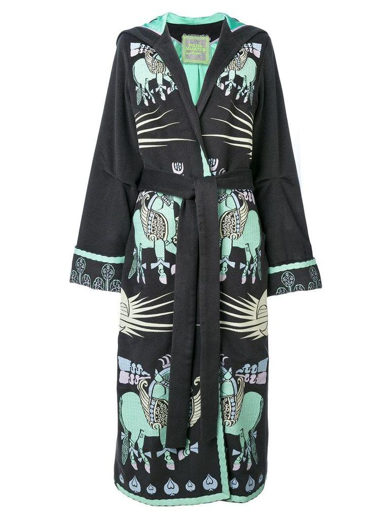 Yuliya Magdych Dayspring Horse embroidered coat - Grey