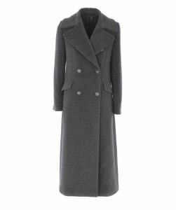 Double Breasted Button Fastening Coat