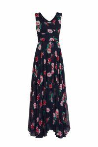 Womens Gina Bacconi Black Edana Floral Chiffon Maxi Dress -  Black