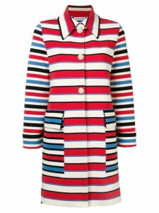 Sonia Rykiel striped single breasted coat - Red