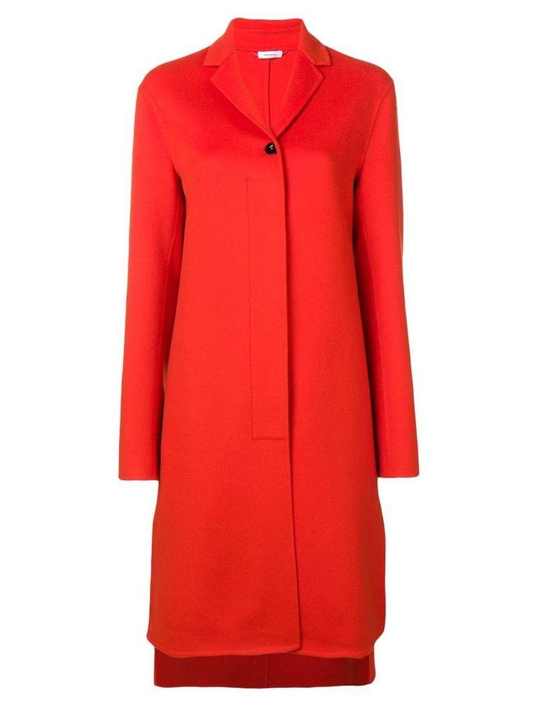 Jil Sander single breasted coat - Orange