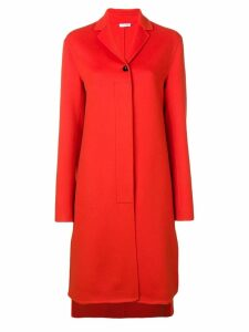 Jil Sander single breasted coat - Orange