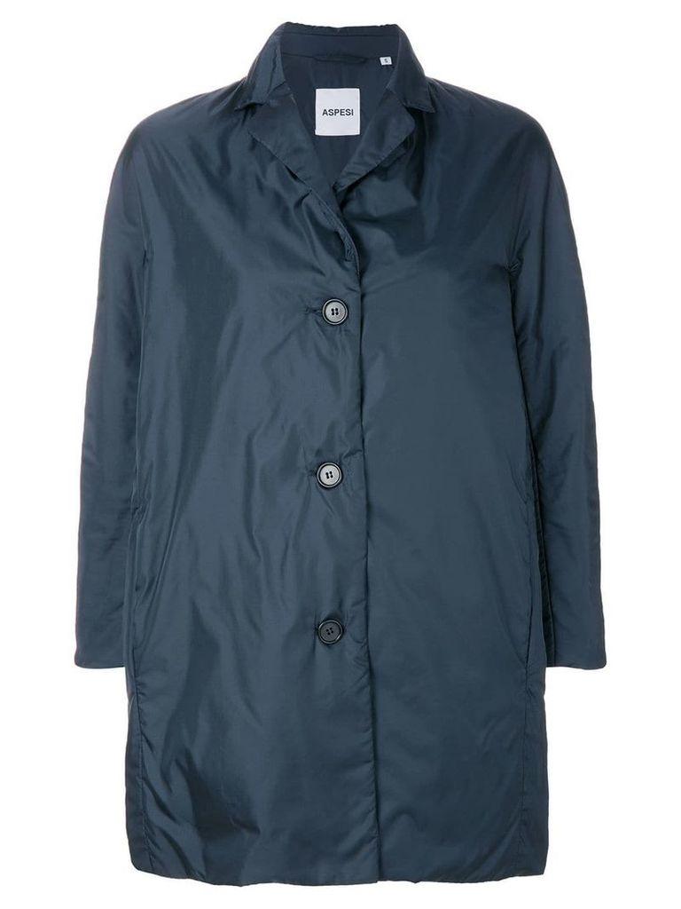 Aspesi single breasted coat - Blue