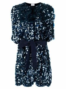 P.A.R.O.S.H. belted sequin coat - Blue