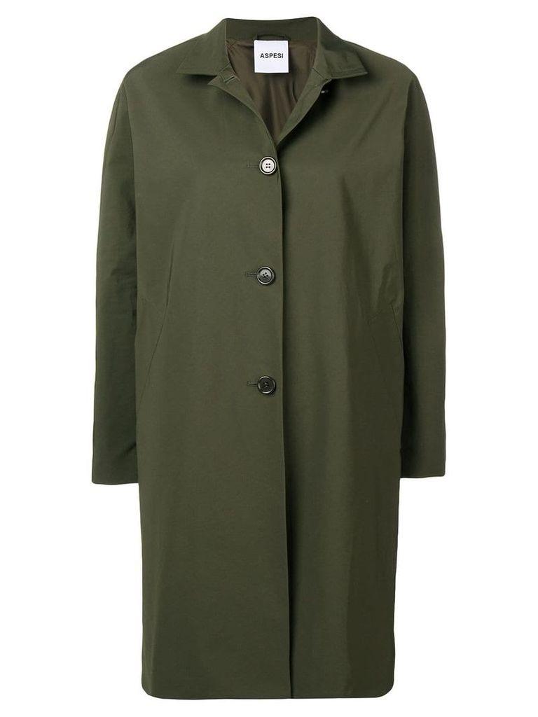 Aspesi front button coat - Green