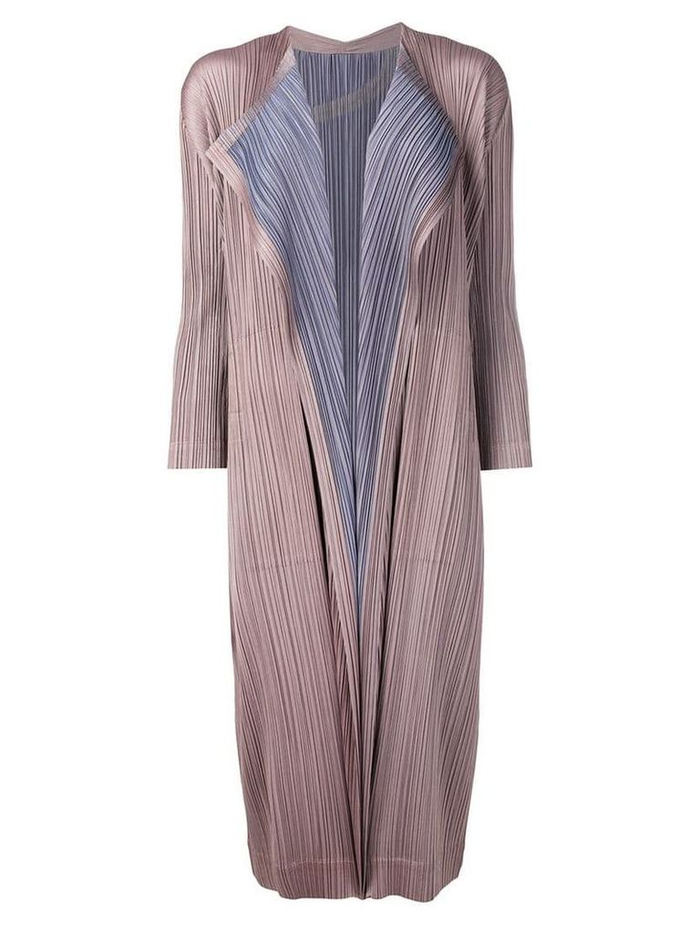 Pleats Please By Issey Miyake plissé coat - Brown