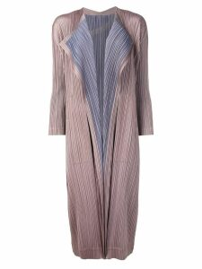 Pleats Please By Issey Miyake plissé coat - Brown