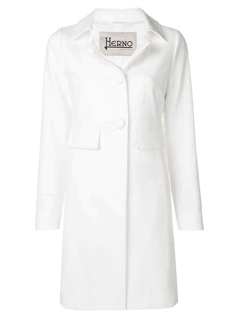 Herno fitted single-breasted coat - White
