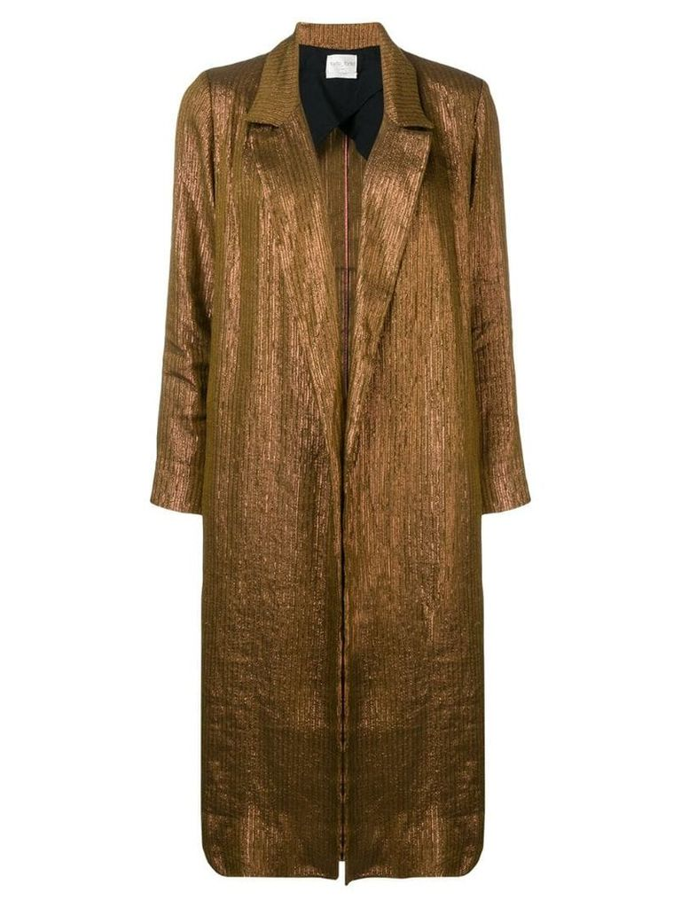 Forte Forte long classic coat - Gold