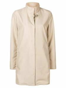 Fay concealed front coat - Neutrals