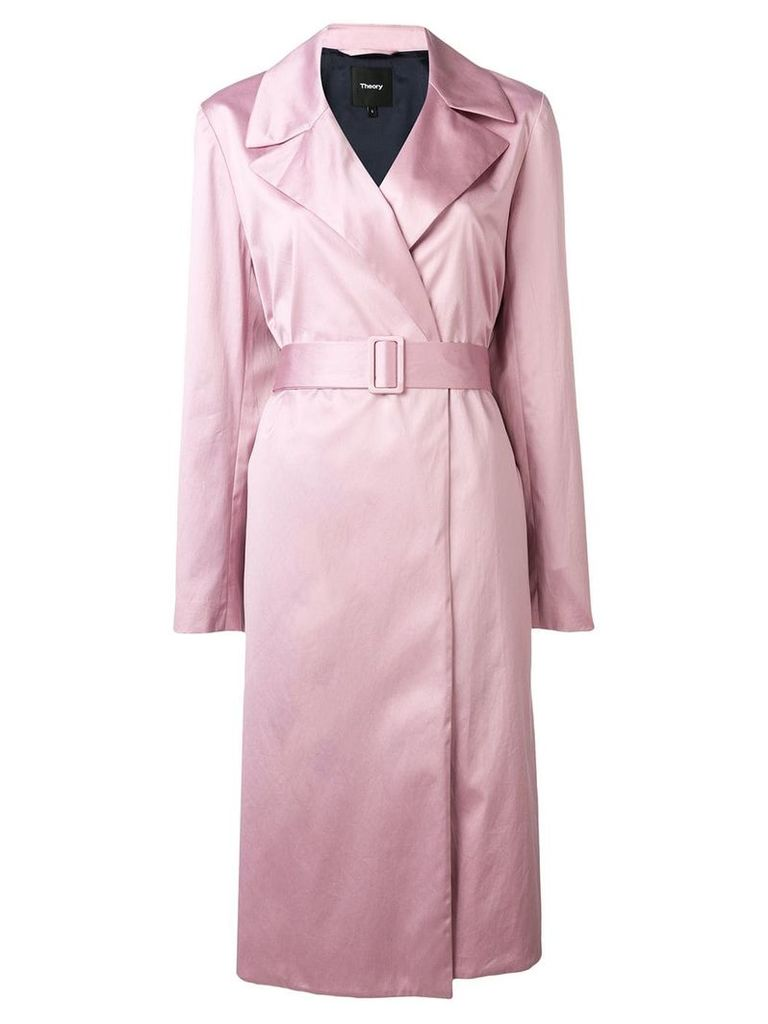 Theory belted duster coat - Pink