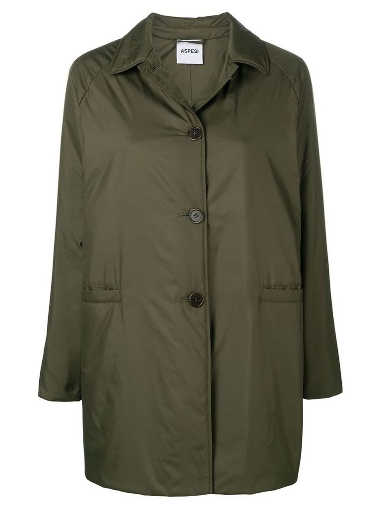 Aspesi single-breasted coat - Green