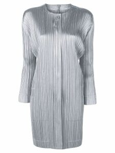 Pleats Please By Issey Miyake micro pleated coat - Grey