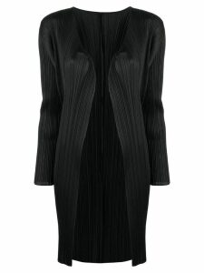 Pleats Please By Issey Miyake micro pleated coat - Black