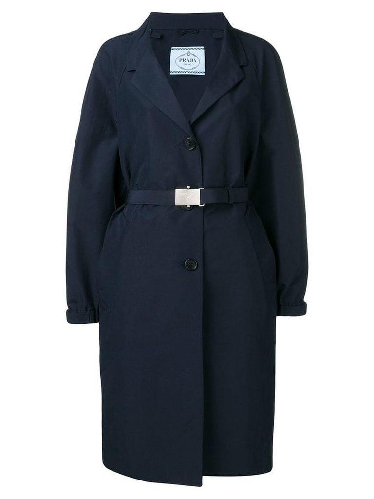 Prada single-breasted trenchcoat - Blue