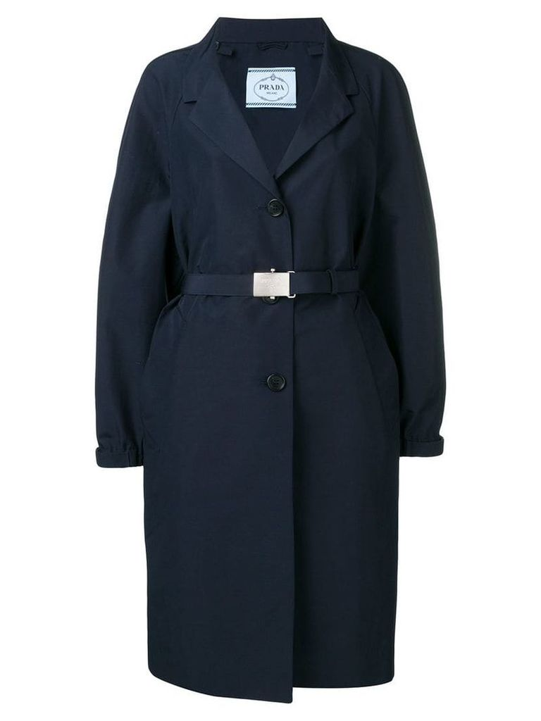Prada single-breasted trenchcoat - Blue